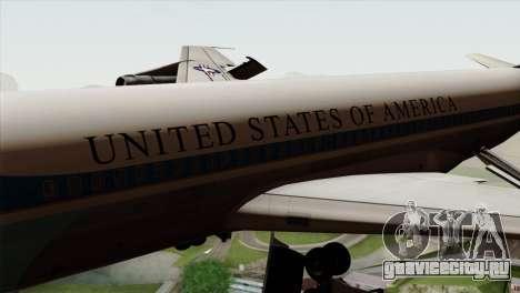 Boeing VC-137 для GTA San Andreas вид сзади