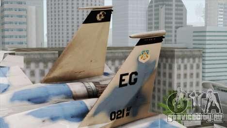 F-15E Artic Blue для GTA San Andreas вид сзади слева