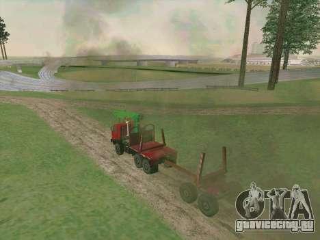 КамАЗ 44108 Лесовоз для GTA San Andreas вид сверху