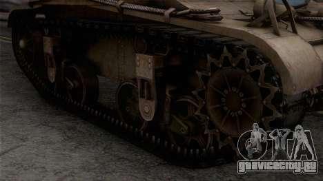 M2 Light Tank для GTA San Andreas вид справа