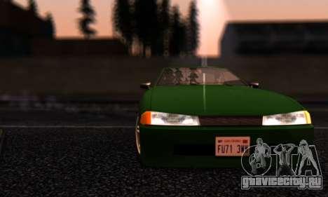 Elegy I Love GS v1.0 для GTA San Andreas вид сбоку