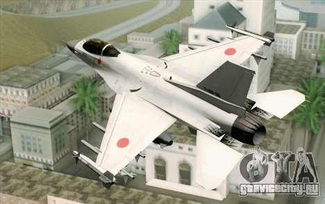 Mitsubishi F-2 Blue JASDF Skin для GTA San Andreas вид слева
