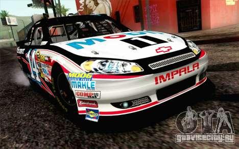 NASCAR Chevrolet Impala 2012 Plate Track для GTA San Andreas