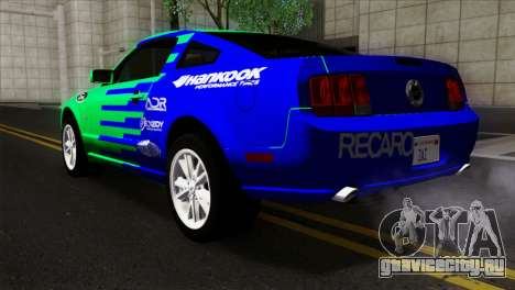 Ford Mustang GT Wheels 2 для GTA San Andreas вид слева