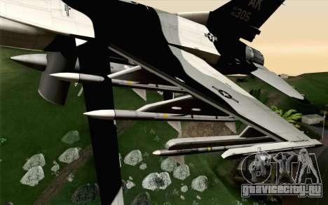F-16C Fighting Falcon Aggressor Alaska BlackGrey для GTA San Andreas вид справа
