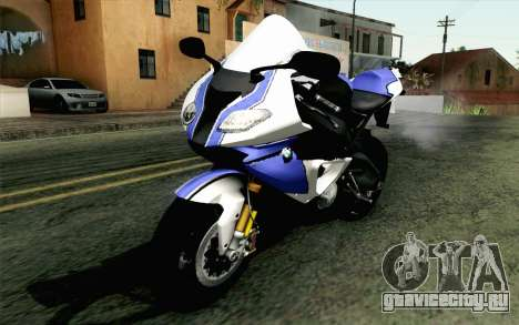 BMW S1000RR HP4 v2 Blue для GTA San Andreas
