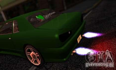 Elegy I Love GS v1.0 для GTA San Andreas вид сзади