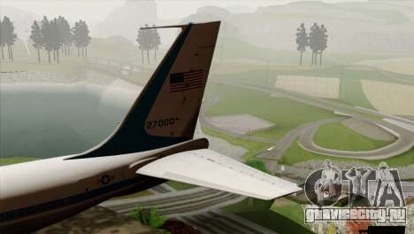 Boeing VC-137 для GTA San Andreas вид сзади слева