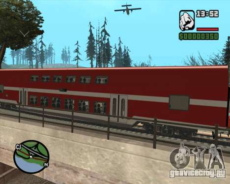 Israeli Train Double Deck Coach для GTA San Andreas вид сзади слева