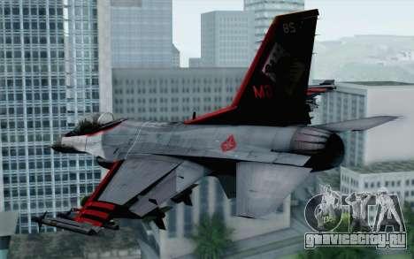 F-16 15th Fighter Squadron Windhover для GTA San Andreas вид слева