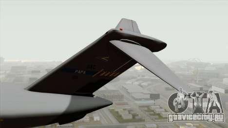 C-17A Globemaster III NATO для GTA San Andreas вид сзади слева