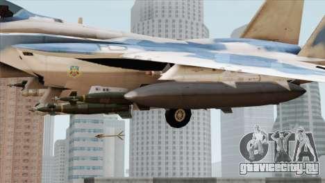 F-15E Artic Blue для GTA San Andreas вид справа
