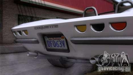 GTA 5 Invetero Coquette Classic TL для GTA San Andreas вид сзади
