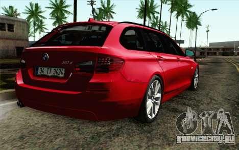 BMW 530d F11 Facelift IVF для GTA San Andreas вид слева