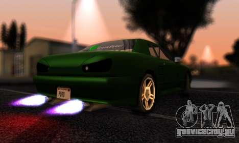 Elegy I Love GS v1.0 для GTA San Andreas вид сзади слева
