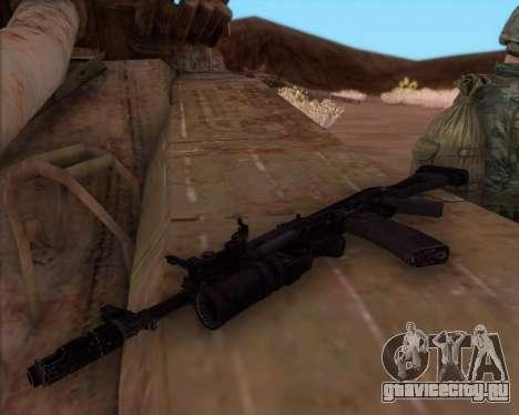 Автомат Калашникова АК-74М для GTA San Andreas третий скриншот
