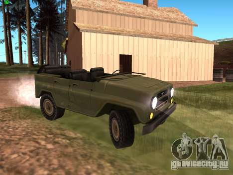УАЗ военный для GTA San Andreas вид слева