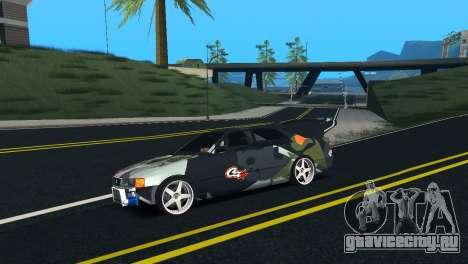 Toyota Chaser Tourer V Fail Crew для GTA San Andreas вид слева