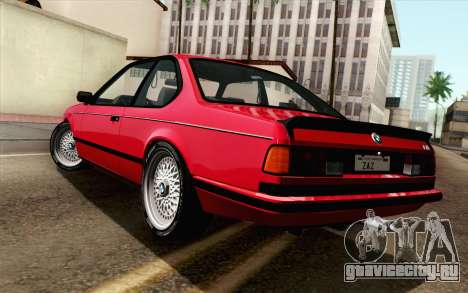 BMW M635CSI E24 1986 V1.0 для GTA San Andreas вид слева