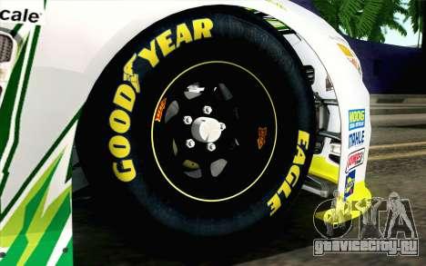 NASCAR Chevrolet SS 2013 v4 для GTA San Andreas вид сзади слева