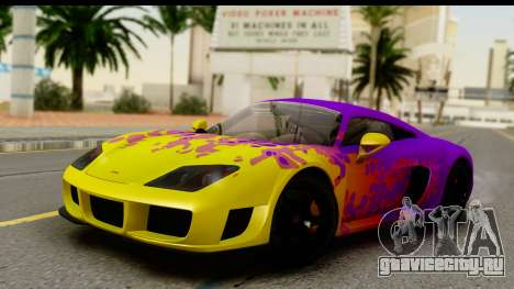 Noble M600 2010 HQLM для GTA San Andreas салон