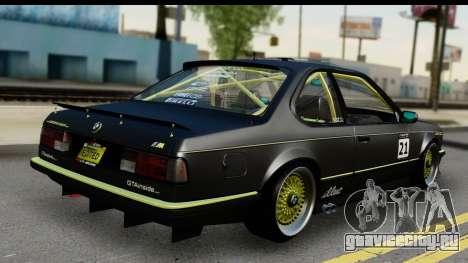 BMW M635 E24 CSi 1984 для GTA San Andreas вид слева