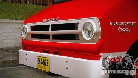 Dodge 300 Microbus для GTA San Andreas вид сзади слева