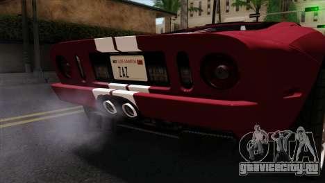 Ford GT FM3 Rims для GTA San Andreas вид сзади