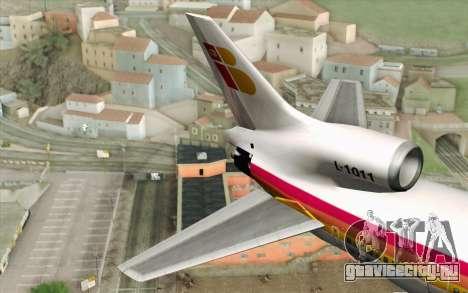 Lookheed L-1011 Iberia для GTA San Andreas вид сзади слева