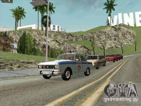 Москвич 2140 Милиция для GTA San Andreas вид слева