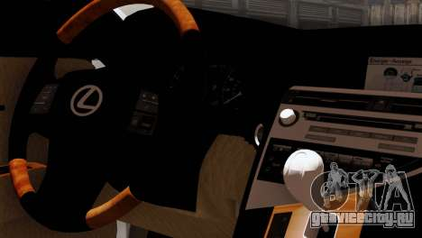 Lexus RX450H v2 для GTA San Andreas вид сзади