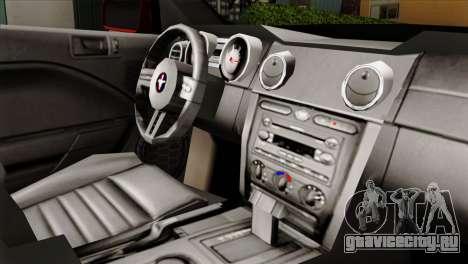 Ford Mustang GT PJ для GTA San Andreas вид справа