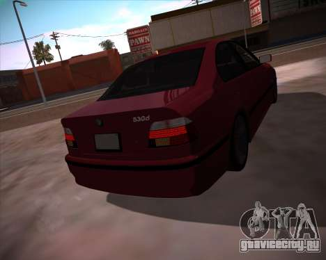 BMW 5-series E39 Vossen для GTA San Andreas вид слева