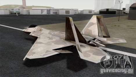 F-22 Raptor 02 для GTA San Andreas вид слева