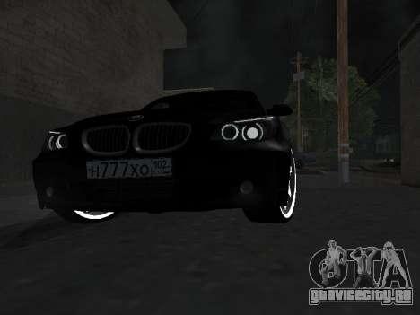BMW 525i (e60) для GTA San Andreas вид изнутри