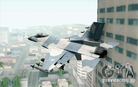 F-16 Osean Air Defense Force для GTA San Andreas вид слева