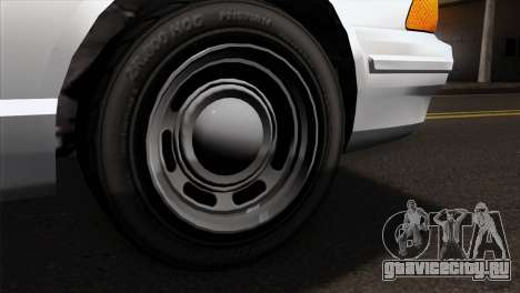 GTA 5 Vapid Stanier Sheriff SA Style для GTA San Andreas вид сзади слева