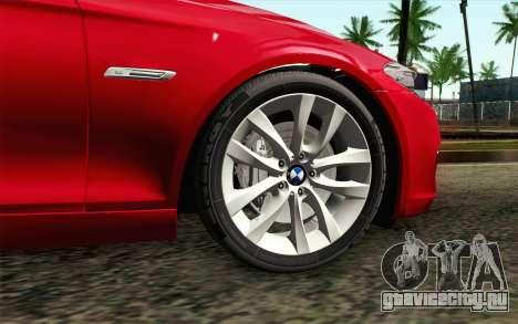 BMW 530d F11 Facelift IVF для GTA San Andreas вид сзади слева