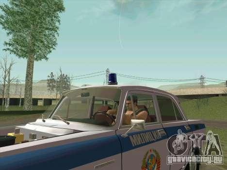 Москвич 2140 Милиция для GTA San Andreas двигатель