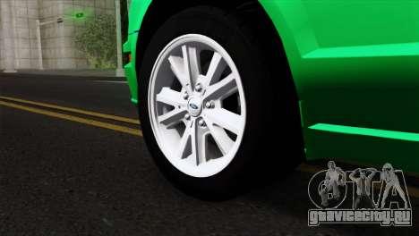 Ford Mustang GT Wheels 2 для GTA San Andreas вид сзади слева