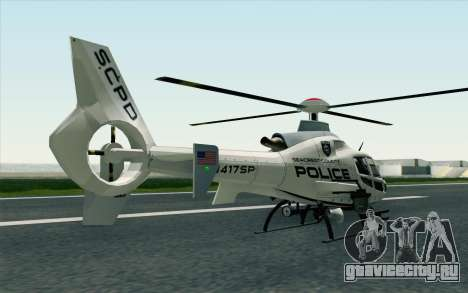 NFS HP 2010 Police Helicopter LVL 1 для GTA San Andreas вид слева