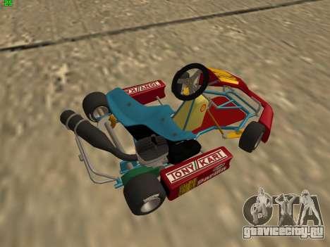Kart per XiorXorn для GTA San Andreas вид сзади слева