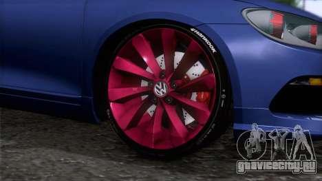Volkswagen Scirocco GT 2009 для GTA San Andreas вид сзади слева