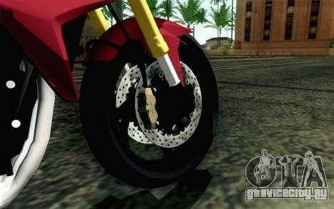 Honda CB1000R для GTA San Andreas вид сзади слева