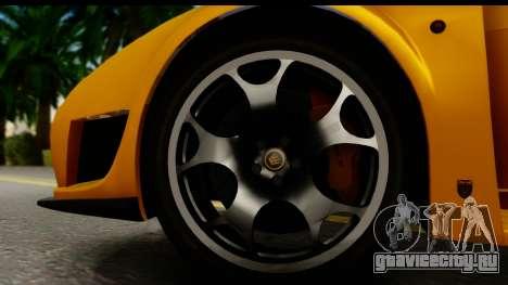 Noble M600 2010 HQLM для GTA San Andreas вид изнутри