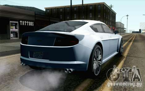 GTA 5 Dewbauchee Exemplar IVF для GTA San Andreas вид слева