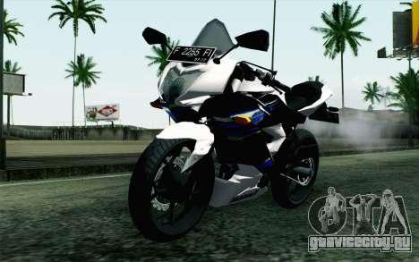 Kawasaki Ninja 250RR Mono White для GTA San Andreas