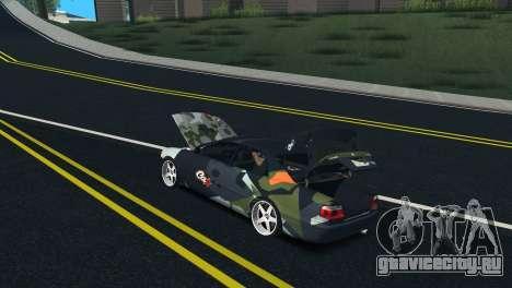 Toyota Chaser Tourer V Fail Crew для GTA San Andreas вид изнутри