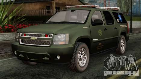 Chevrolet Suburban National Guard MedEvac для GTA San Andreas