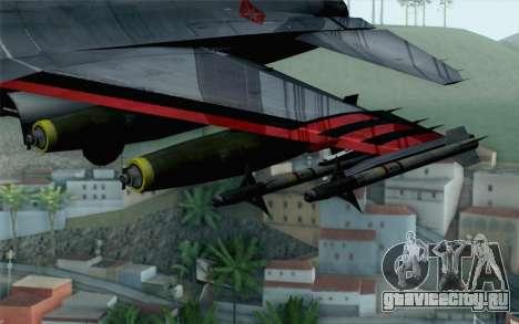 F-16 15th Fighter Squadron Windhover для GTA San Andreas вид справа